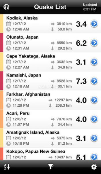 QuakeFeed Earthquake Map, Alerts and News